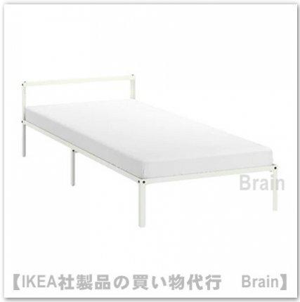 GRIMSBU:ベッドフレーム90x200 cm(ホワイト)