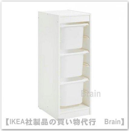 TROFAST:収納コンビネーション ボックス付き34x44x94 cm(ホワイト/ホワイト)