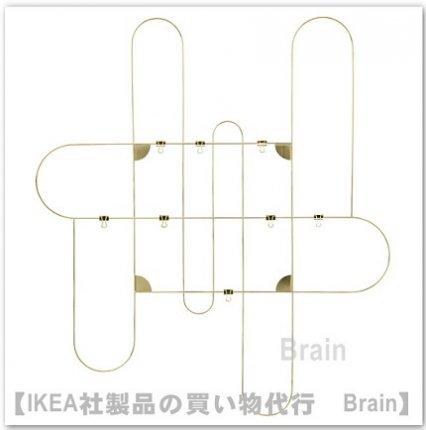KORSMON/コルスモン:メモボード クリップ8個付き/71×80�(ゴールドカラー)