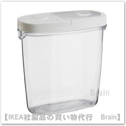 IKEA 365+:ふた付き容器1.3L(透明/ホワイト)