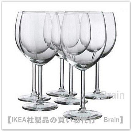 SVALKA:赤ワイングラス18 cm【6個セット】