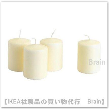 HEMSJÖ:香りなしブロックキャンドル8 cm【4個セット】