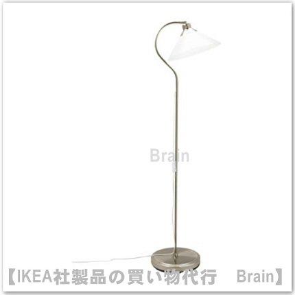 KROBY:フロア/ 読書ランプ(ニッケルメッキ/ガラス)