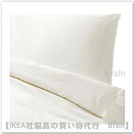 DVALA:掛け布団カバー&枕カバー(ホワイト)【各サイズから選べます】