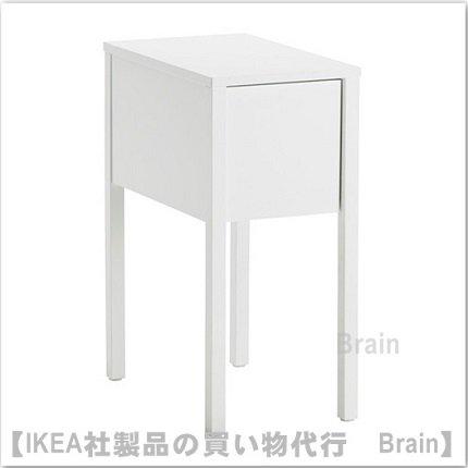 NORDLI:ベッドサイドテーブル(ホワイト)