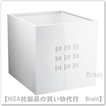 LEKMAN:ボックス33x37x33 cm(ホワイト)