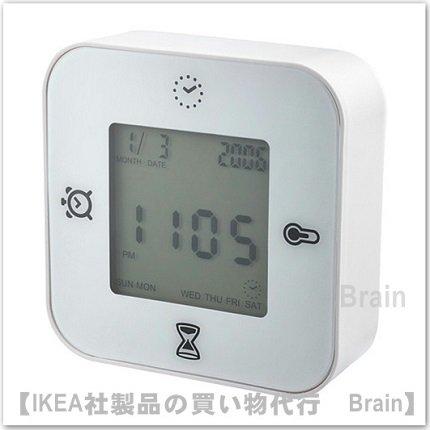 KLOCKIS :時計/ 温度計/アラーム/タイマー(ホワイト)