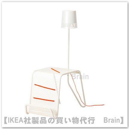 IKEA PS 2014 :サイドテーブル 照明付き(ホワイト/オレンジ)