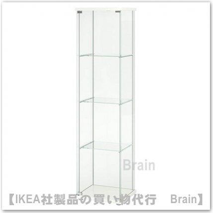 DETOLF:ガラス扉キャビネット43x163 cm(ホワイト)