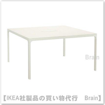 BEKANT:会議用テーブル140×140�(ホワイト/ホワイト)