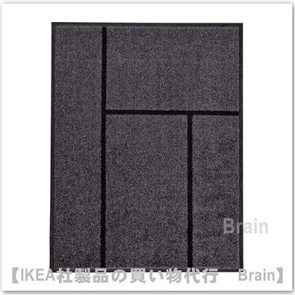 KÖGE:ドアマット69x90cm( グレー/ブラック)