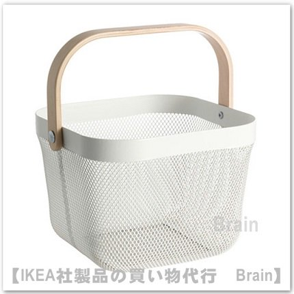 RISATORP :バスケット25x26x18 cm(ホワイト)