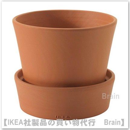INGEFÄRA :植木鉢 受け皿付12㎝(テラコッタ)