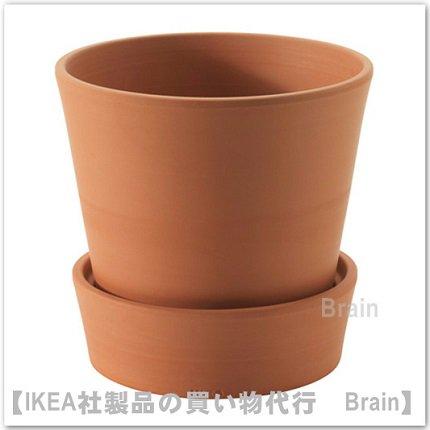 INGEFÄRA :植木鉢 受け皿付15㎝(テラコッタ)