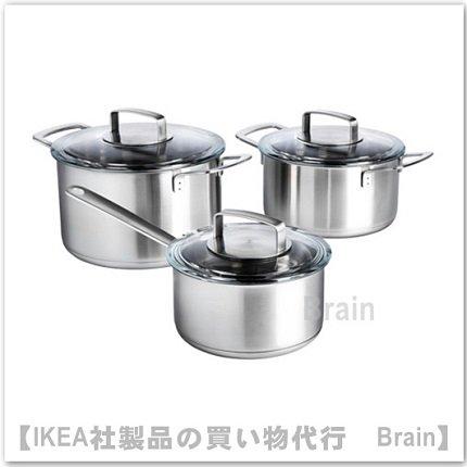 IKEA 365+ :調理器具(ステンレススチール/ガラス)【6点セット】【1/28までの期間限定価格】