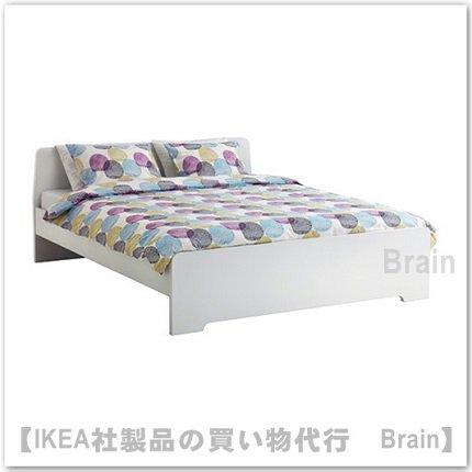 ASKVOLL:ベッドフレーム(ホワイト)【各サイズから選べます】