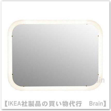 STORJORM :ミラー ビルトイン照明付き80x60 cm(ホワイト)