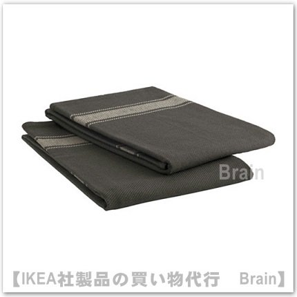 VARDAGEN:キッチンクロス50x70 cm(ブラック)【2枚セット】