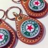 ビアボトルキャップキーリング / ハイネケン(BEER BOTTLE CAP KEY RING / Heineken Lager)