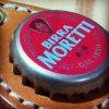 ボトルキャップキーリング / ビッラ・モレッティ(BEER BOTTLE CAP KEY RING / MORETTI)