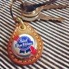 BEER BOTTLE CAP KEY RING / Pabst Blue Ribbon(ビアボトルキャップキーリング / パブストブルーリボン)