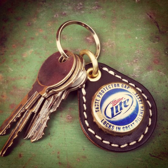BEER BOTTLE CAP KEY RING / Miller Lite(ビアボトルキャップキーリング / ミラーライト)