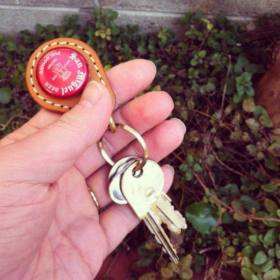 BEER BOTTLE CAP KEY RING / San Miguel(ビアボトルキャップキーリング / サンミゲル)