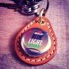 BEER BOTTLE CAP KEY RING / Labatt BLUE LIGHT LIME(ビアボトルキャップキーリング / ラバットブルーライトライム)