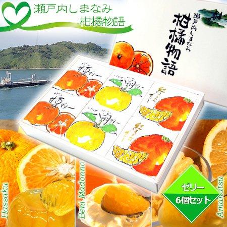 瀬戸内しまなみ柑橘物語 ゼリー6個セット(3種×各2個)