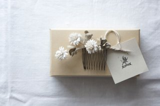 Hair Comb White clover