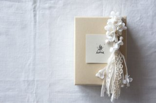 Earring or Pierce Annabel , Lily of the valley & Antique tassel ( off white )