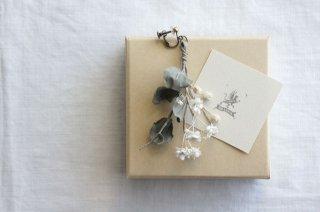 Earring or Pierce Eucalyptus , Babies'-breath & Berry