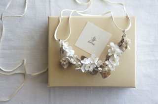 Necklace Annabelle , Lily of the valley & Eucalyptus