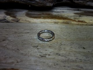 Hammered finish ring / 槌目リング