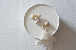 <img class='new_mark_img1' src='https://img.shop-pro.jp/img/new/icons47.gif' style='border:none;display:inline;margin:0px;padding:0px;width:auto;' />Earring or Pierce / Wood & Antique lace