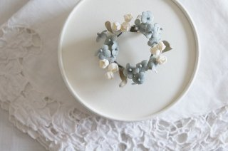<img class='new_mark_img1' src='https://img.shop-pro.jp/img/new/icons47.gif' style='border:none;display:inline;margin:0px;padding:0px;width:auto;' />Wreath Corsage / forget-me-not & Lily of the valley