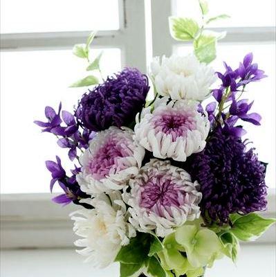 仏花L(紫×白)