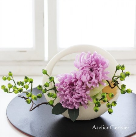 薄紫菊の仏花(ミラージュSサイズ)プリザーブドフラワー