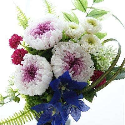 仏花M(白×紫)