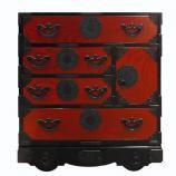 TH-K004 車箪笥 赤黒拭漆