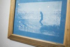 藍染シルクスクリーンプリント・フレーム入り 11x14