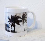 オリジナルマグカップ -モノクロ Palms-