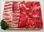 『冷蔵』国産牛交雑種と能登豚 鉄板焼セット(国産牛 150g・能登豚 150g)