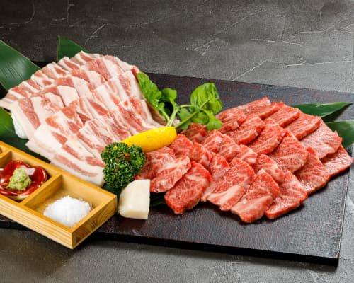 『冷蔵』わさびで食べる能登の焼肉セット (能登牛・能登豚)