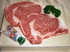 【冷凍】特選能登牛リブロースステーキ 約250g×2枚