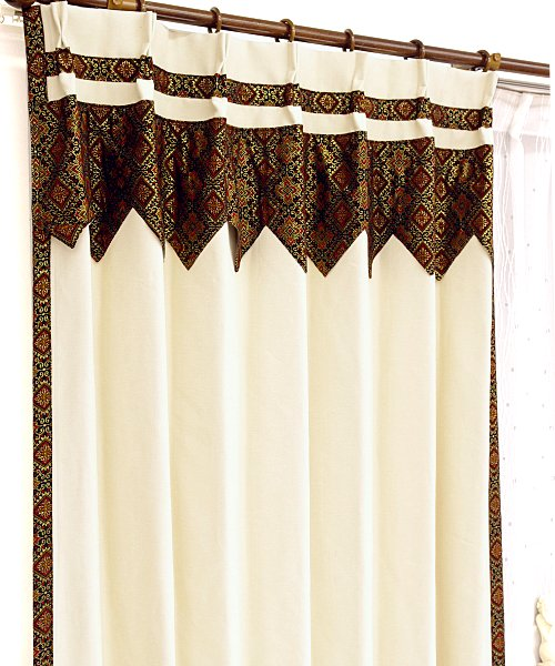 モロッコ カーテン 遮光1級 防炎 モダン クリーム色 マーブル レジェンダ