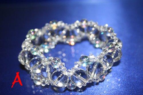 〔天然水晶〕  発晶ブレス アースアクシス(小)