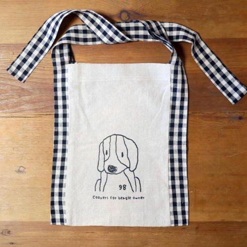 リネン袈裟バッグ(ナチュラル×チェック)の商品画像