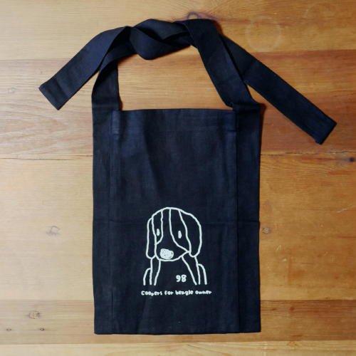 リネン袈裟バッグ(ブラック)の商品画像