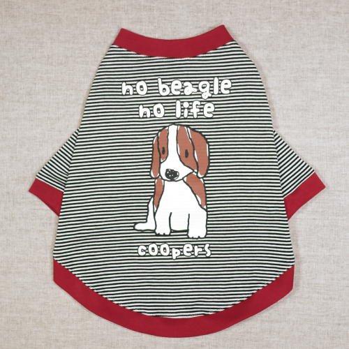 dog'sTシャツ[no beagle no life]ブラックの商品画像